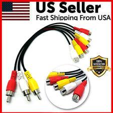 3 RCA Male Jack To 6 RCA Female Splitter Audio Video AV TV DVD Adapter Cable USA