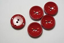 8pc 34mm Chunky Cherry Red Cardigan Trouser Shirt Kid Baby Button 0646