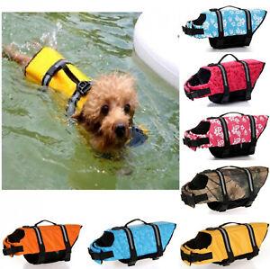 Outdoor Pet Life Jacket Dog Swimming Safety Vest Reflective Stripe Lifesaver NEW