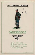 NEW A4 PRINT WW2 THE GERMAN SOLDIER BRITISH ARMY POSTER PARATROOPS WERMACHT