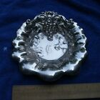 Fine WHITING Sterling SHELL Form SERVING Dish w/GRAPES & LEAVES-Mono C-NR