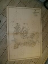 Vintage Admiralty Chart 2398 ILES DE KERGUELEN 1942 edn