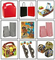 BOYS RED PIRATE - BIRTHDAY PARTY GIFT LOOT BAGS ~ PLATE BOX ~ CAKE SWEET BAG