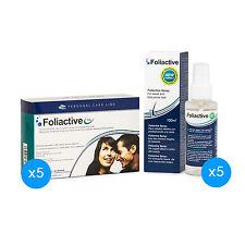 5 Foliactive Pills+5 Spray: Pillole e lozione per frenare la caduta dei capelli