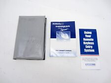 2001 01 Subaru Impreza Rs Owners Manual Book