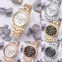 LVPAI Women Crystal Case Mini Dial Wrist Watch Stainless Steel Quartz Watches