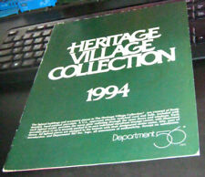 """Dept 56 - """"1994 Heritage Village Collection"""" - #98540 - 25 Pages"""