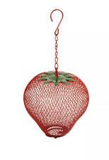 Pinebush Strawberry Fun Bird Feeder New