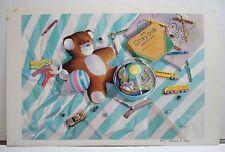 Patrick D. Clark - Kansas Artist – Teddy Bear & Crayons – Boys Toys – S&N 1986