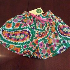 NWT 4/5 Mini Boden Crinkle Patterned Culottes Fantasic Colors