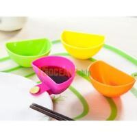 4pcs Assorted Salad Sauce Ketchup Jam Dip Clip Cup Bowl Saucer Kitchen Tableware