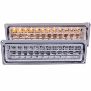 Anzo USA LED Parking Lights Chrome for GM C/K/Suburban/Blazer/Tahoe/Yukon 88-00