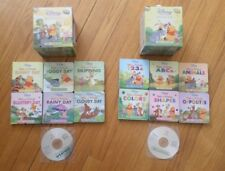 Disney Winnie The Pooh First Concepts 12 Board Books 2 CD's