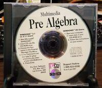 Pre-owned ~ Pro One Multimedia Pre Algebra Software Windows CD-ROM
