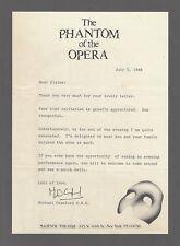 "Michael Crawford (Signed) ""PHANTOM OF THE OPERA"" 1988 Broadway Correspondence"