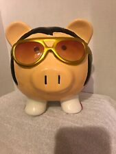 Elvis Presley Ceramic Elvis the King Piggy Bank by Fab Starpoint 8in X 7in