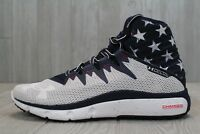 25 Under Armour Highlight Delta USA Charged Shoes White Blue 8,10.5 1288058-410