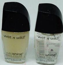 2 Types Wet n Wild WILDSHINE Nail Color Polish BASE COAT & MATTE TOP COAT