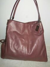 Rare Coach Madison Phoebe Leather metallic dusty rose/mauve bag #D1369-25173-EUC