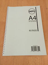 A4 GRAPH PAPER NOTEBOOK WIREBOUND 80 PAGES 1MM 5MM 10MM SQUARED DOUBLE SIDED 003
