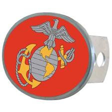 U.S. Marines Trailer Hitch Receiver Cover Metal Oval Class II & III