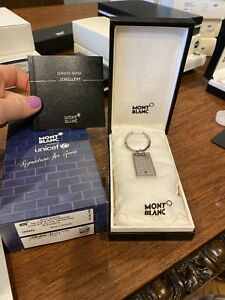 Mont Blanc Unicef 2013 Key Ring Stainless Steel & Blue Sapphire