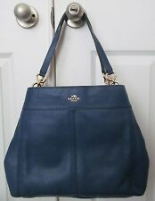 Coach F57545 Lexy Shoulder Bag In Pebble Leather Marina NWT