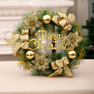 Christmas Wreaths Decorations Outdoor Flower Ornaments for Xmas Doors