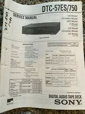 Original Sony DTC-57ES/705 Digital Audio Tape Deck Service Manual w/schematics