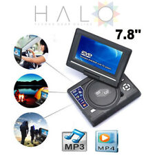 """7.8"""" Lettore DVD portatile da auto ricaricabile schermo girevole USB SD FM"""