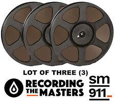 """LOT OF(3) SM911 RTM PYRAL RMG RMGI TAPE REEL 1/4"""" X 2500 10.5"""" PLASTIC TRIDENT"""