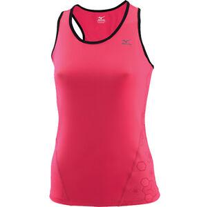 Mizuno Women Top DryLite Support Sport Top Vest Extra Small Carmine Rose