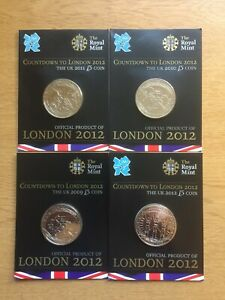 2009,10,11,1 £5 ROYAL MINT COUNTDOWN TO LONDON 2012 FIVE POUND COIN BUNC OLYMPI