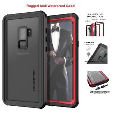 Galaxy S9 + Plus For Ghostek Waterproof Rugged Cover Case Nautical Red/Black