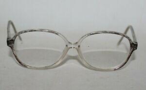 Vintage Ladies Full Frame 1980's Grey & Clear Glasses Frames