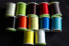 Fly Tying Large Spool Thread, Unwaxed  12 Different colours, Fly Dressing 8/0