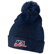 Team USA 2019 World Junior Championship IIHF Hockey Pom Beanie Toque Hat Cap