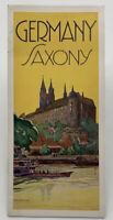 Germany Saxony Vintage Travel Brochure German 20-2289