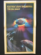 "Elo Original 22X13.5"" Centerfold Ad For The Album ""The Big Night"" W/Tour Dates"