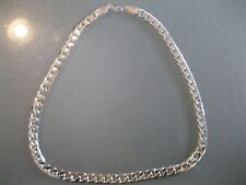 "10MM Men's Silver finish CUBAN LINK Necklace Chain 24"" long"