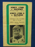 HAND SIGNED - Terry Betts - Kings Lynn v Hackney Speedway Programme - 25/10/69