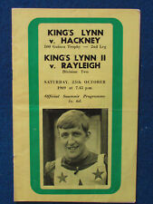 More details for hand signed - terry betts - kings lynn v hackney speedway programme - 25/10/69