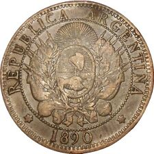 Argentina 2 Dos Centavos 1890 KM#33 (2923) Latin Monetary Union