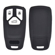 Silicone Key Cover Case Fob For Audi A4 B9 Q5 Q7 TT 2016- Skin Shell Holder