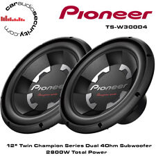 "Pioneer TS-W300D4 x 2 12"" pollici AUTO BASS SUB SUBWOOFER 2800 W TWIN SOTTOMARINI"