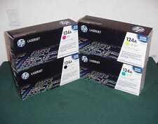 SET OF 4 GENUINE HP 124A LJ Q6000A Q6001A Q6002A Q6003A 1600 2600 PRINT TONER