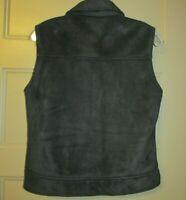 NILS Sportswear Black Faux Suede Fleece Lined Vest Women's Small Z8-3