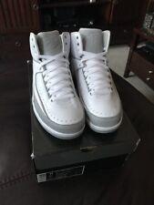 New Air Jordan Retro 2 Anniversary White/Metallic Silver 3M 2009 DS Men's  11