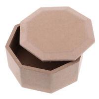 Unfinished Wood Blank Wooden Box Base Organizer Storage Case for DIY Crafts
