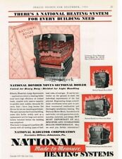 1930 National Heating Systems Novus Boiler Johnstown PA Vtg Print Ad